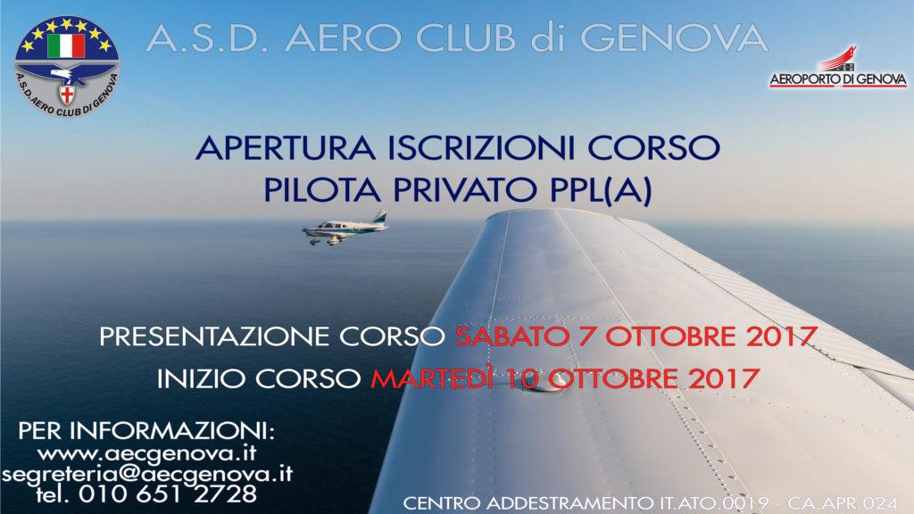 Al via il nuovo corso PPL – Pilota Privato Aeroplani